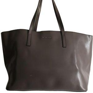 Michael Kors Gray Saffiano Leather Shoulder Bag